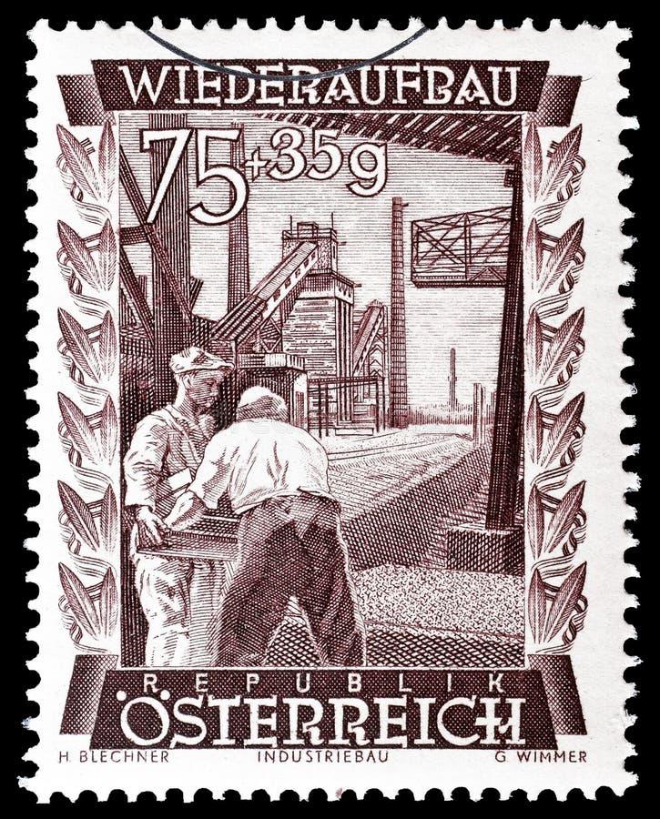 ?sterreich auf Briefmarke lizenzfreies stockbild
