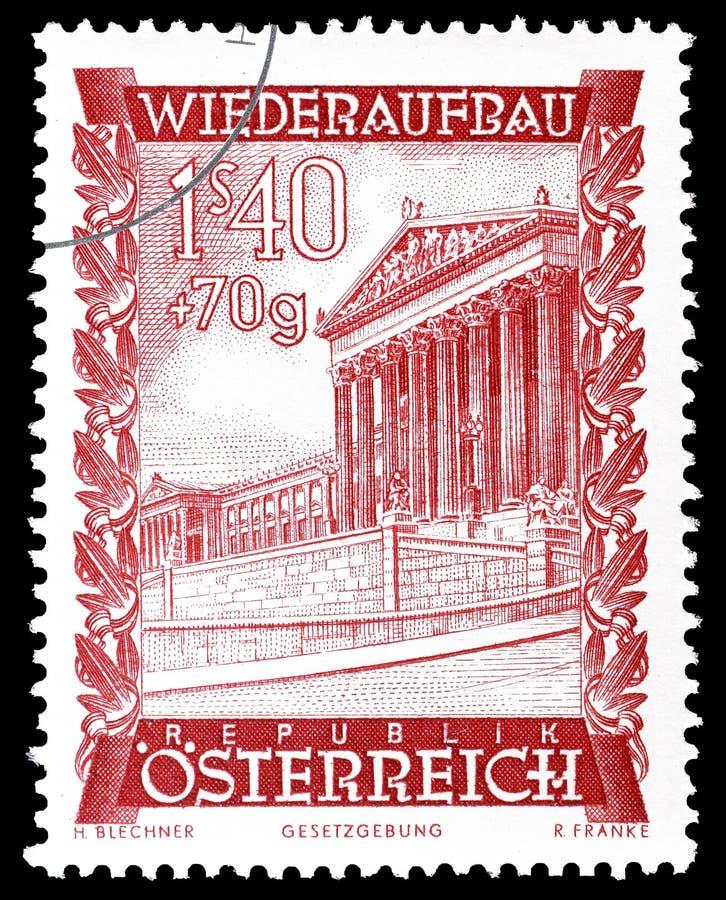 ?sterreich auf Briefmarke lizenzfreie stockfotos