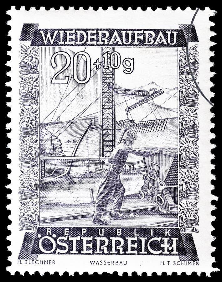 ?sterreich auf Briefmarke stockbild