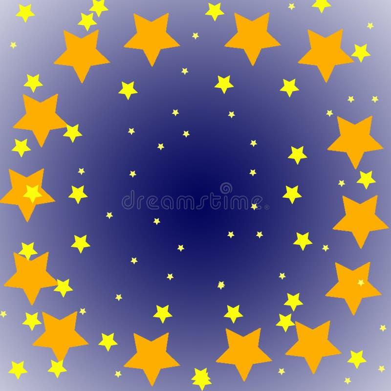 Sterren in de hemel vector illustratie