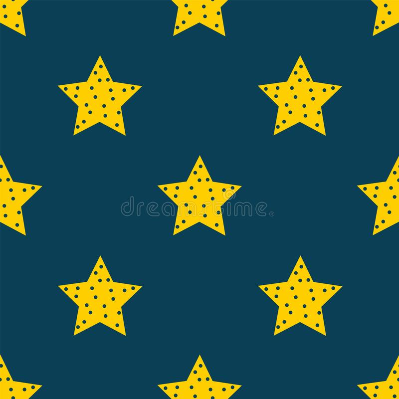 Sterren in de hemel De naadloze achtergrond van het sterpatroon vector illustratie