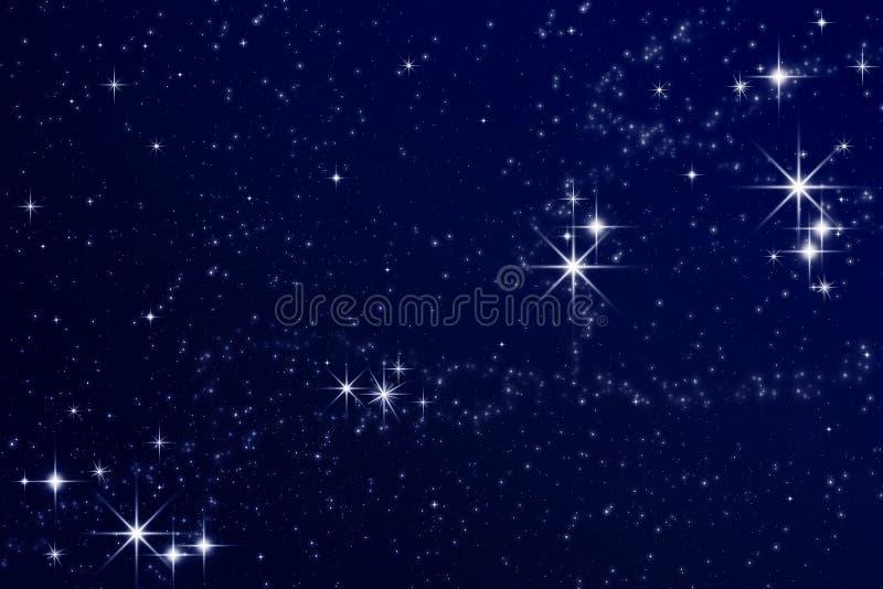 Sterren in de nachthemel stock fotografie