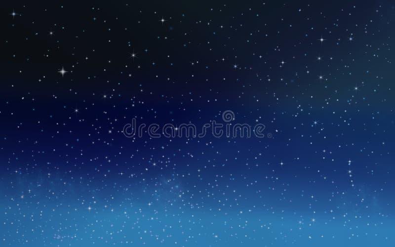 Sterren in de nachthemel royalty-vrije illustratie