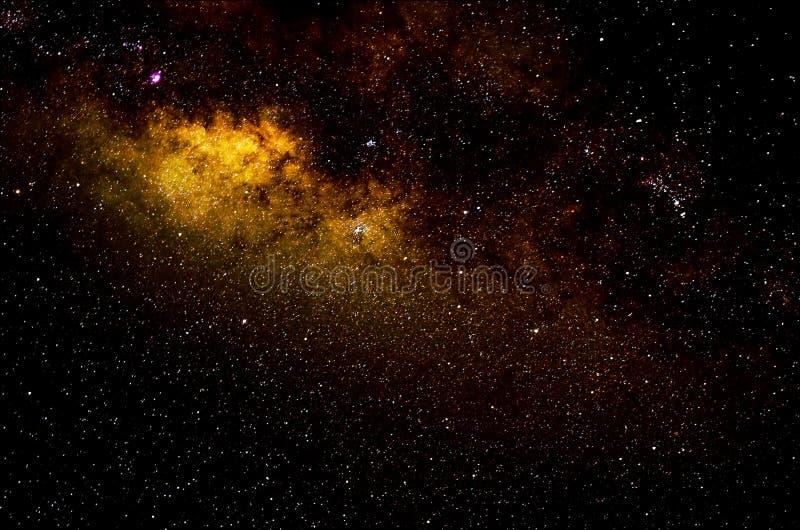 Sterren en de nachtachtergrond van de melkweg ruimtehemel stock foto