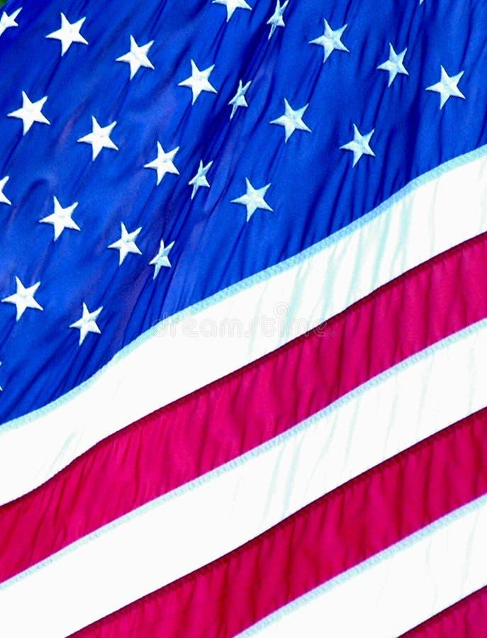 Sterren en Strepen van de Amerikaanse vlag stock afbeeldingen
