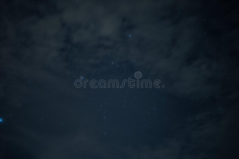 Sterren in hemel van de nacht royalty-vrije stock foto's