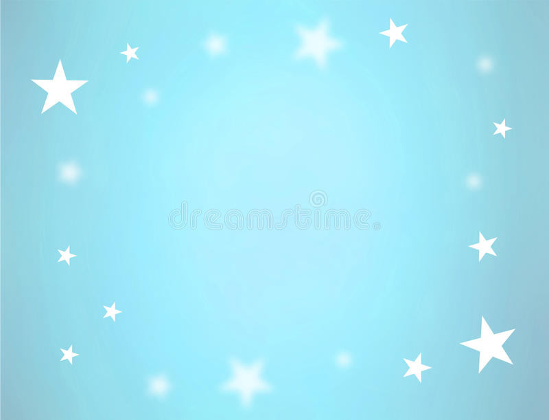 Sterren op blauw vector illustratie
