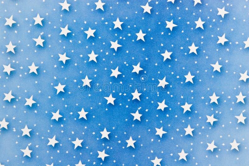 Sterren op Blauw royalty-vrije stock afbeeldingen
