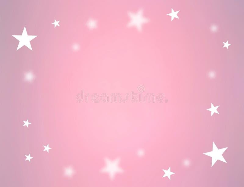 Sterren op roze kleur vector illustratie