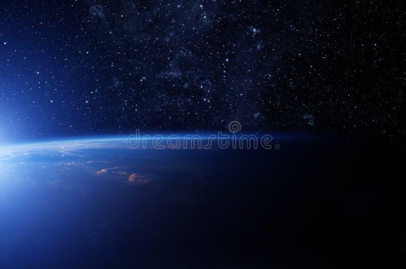 Sterren over de Aarde royalty-vrije stock afbeeldingen