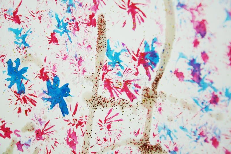 Sterren rode blauwe roze gouden vlekken Kleurrijke vormen en vormen stock illustratie
