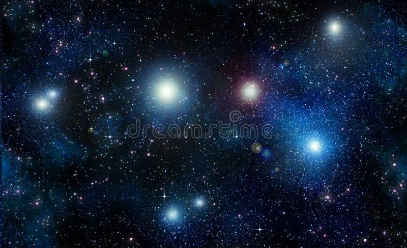 Sterren in ruimte of nachthemel vector illustratie