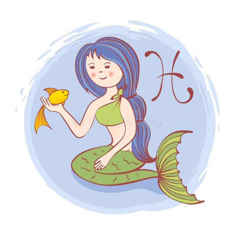 Sterrenbeelden - Vissen royalty-vrije illustratie
