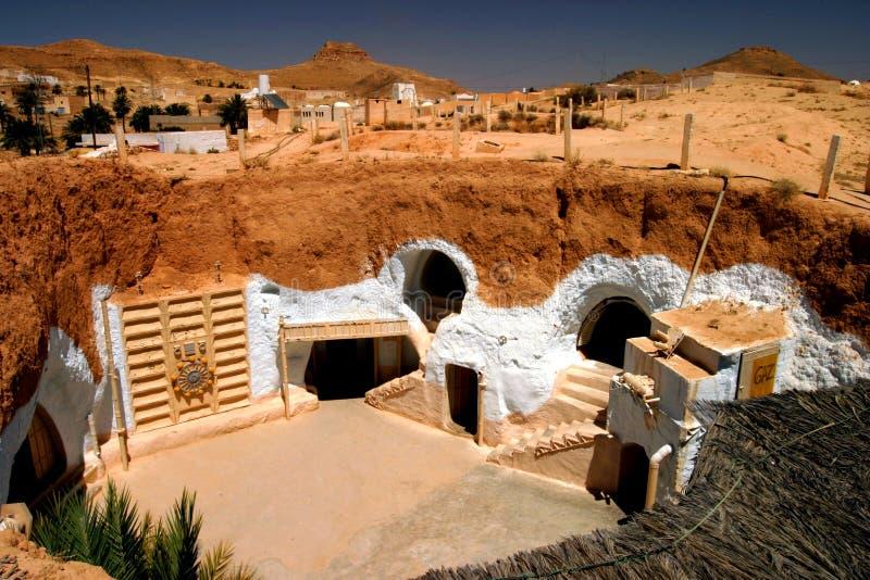 Sterrenoorlogfilm vastgesteld Tunesië royalty-vrije stock afbeelding