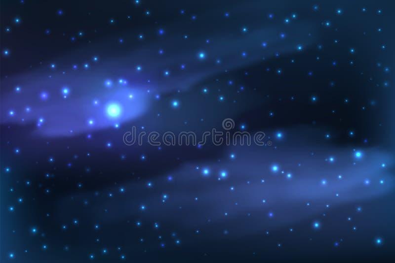 Sterrig op de achtergrond van de nachthemel royalty-vrije illustratie