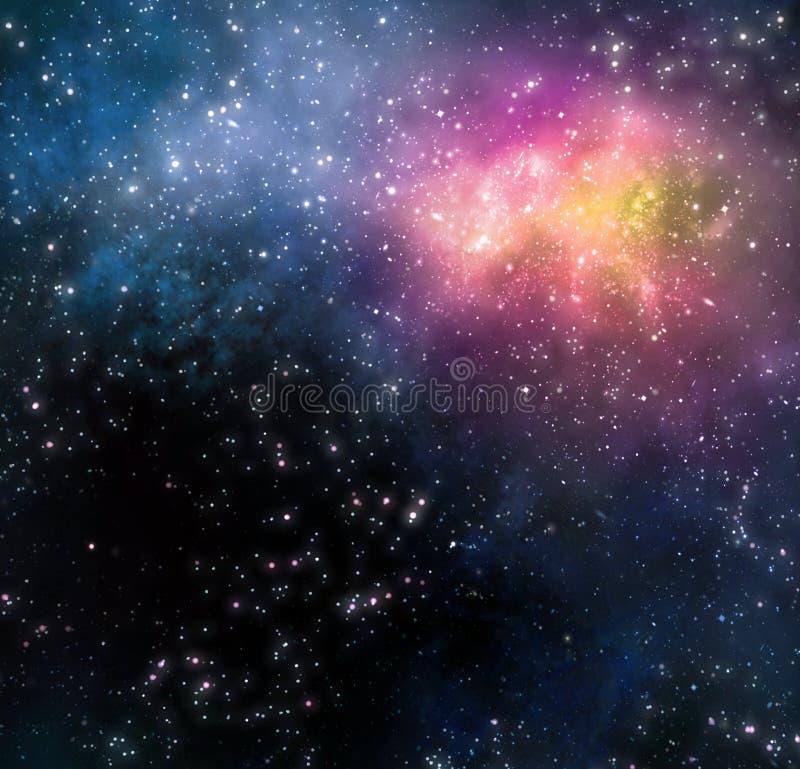 Sterrige achtergrond van diepe kosmische ruimte stock illustratie