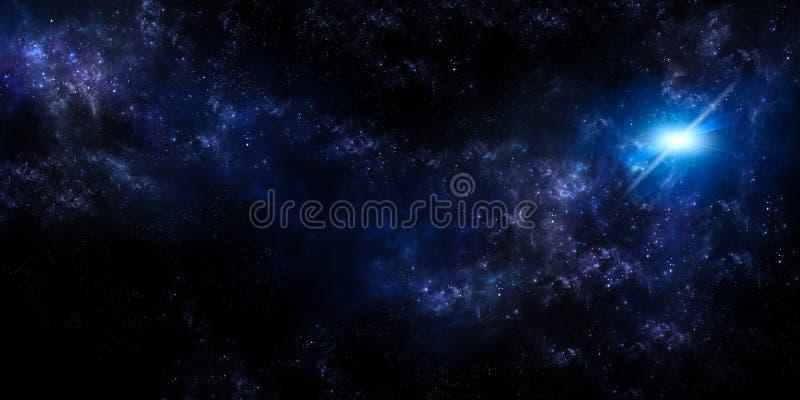 Sterrige hemel, panoramische achtergrond stock illustratie
