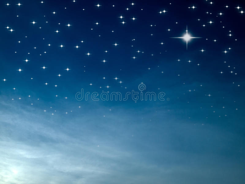 Sterrige nacht royalty-vrije stock foto