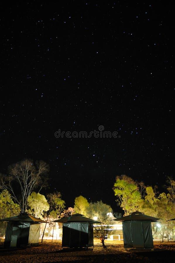 Sterrige nacht stock fotografie