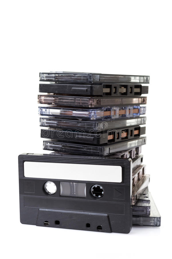 Stert audio kasety zdjęcie stock