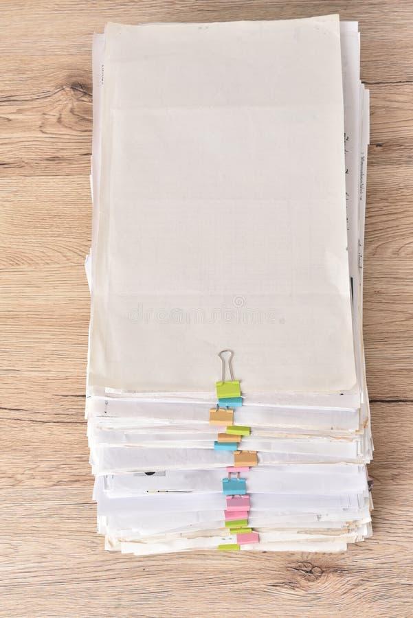 Stert kartotek dokumenty obraz royalty free
