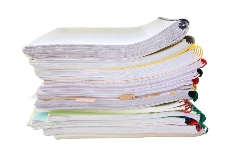 Stert papierowe falcówki odizolowywać na bielu zdjęcie royalty free