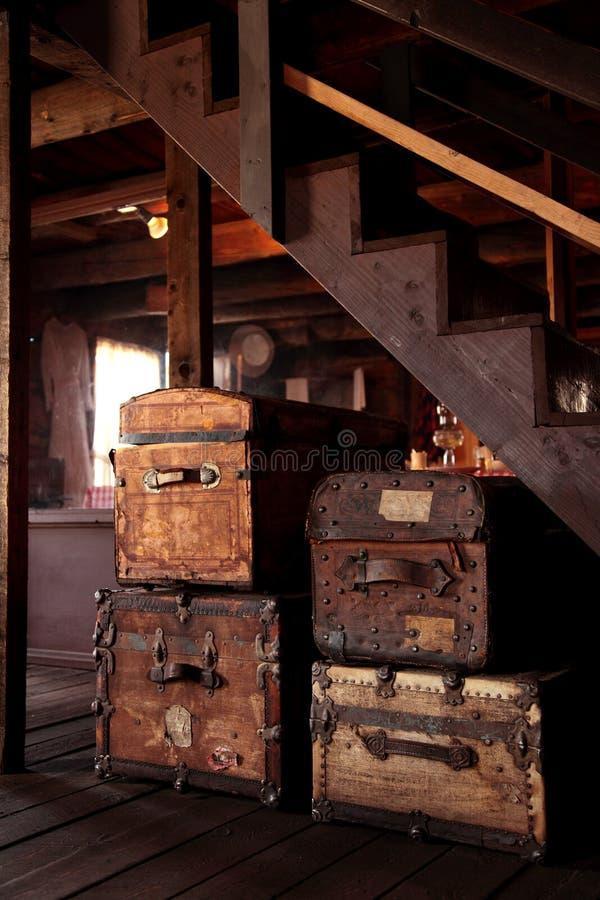 stert stare walizki obrazy stock