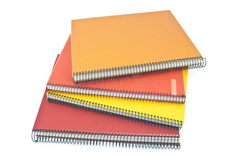 Sterta ślimakowaci notatniki zdjęcie stock