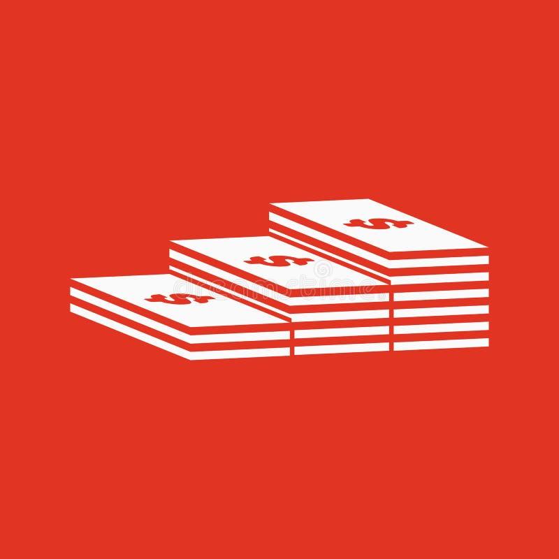 Sterta banknot ikona Greenback, banknot, pieniądze symbol mieszkanie ilustracji
