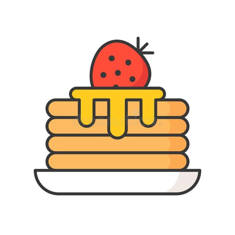 Sterta bliny cukierki i ciasto set z syropem, wypełniał outl ilustracji