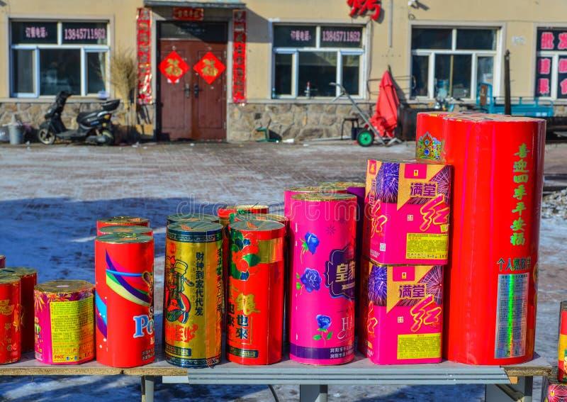 Sterta czerwone petardy obrazy stock