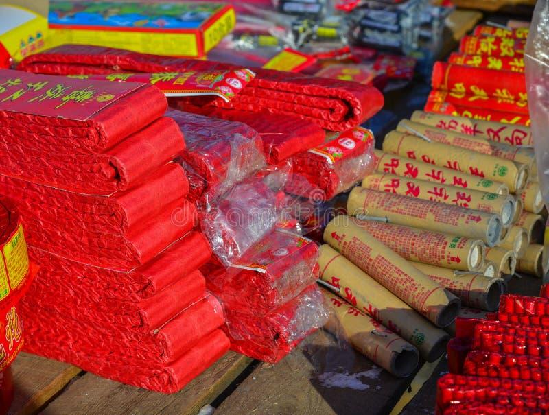 Sterta czerwone petardy zdjęcia royalty free