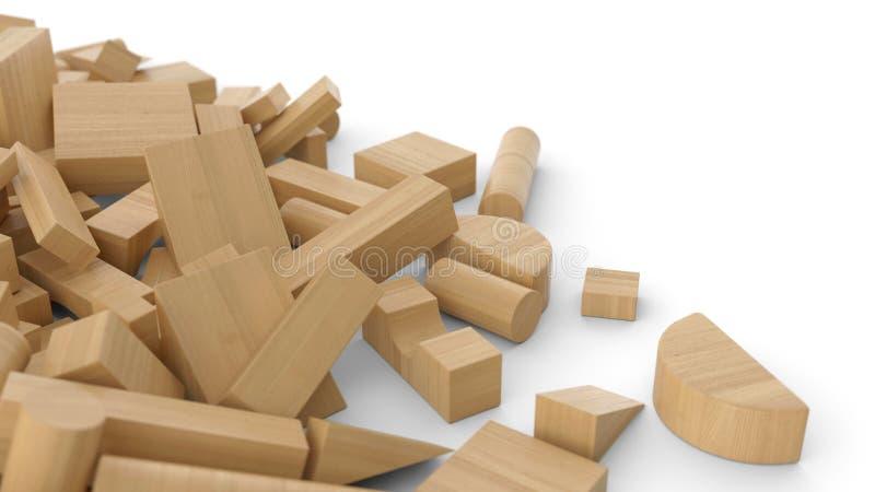 Sterta drewniane cegły 1 ilustracji