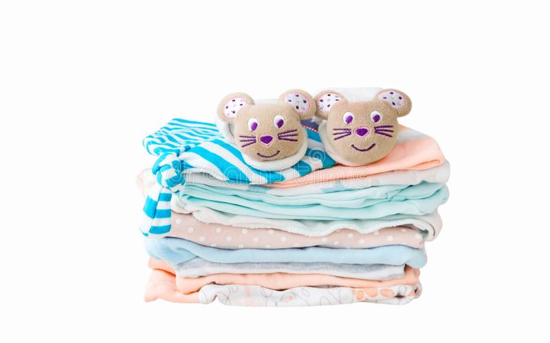 Sterta dziecka ` s ubrania odizolowywający na białym tle zdjęcia stock