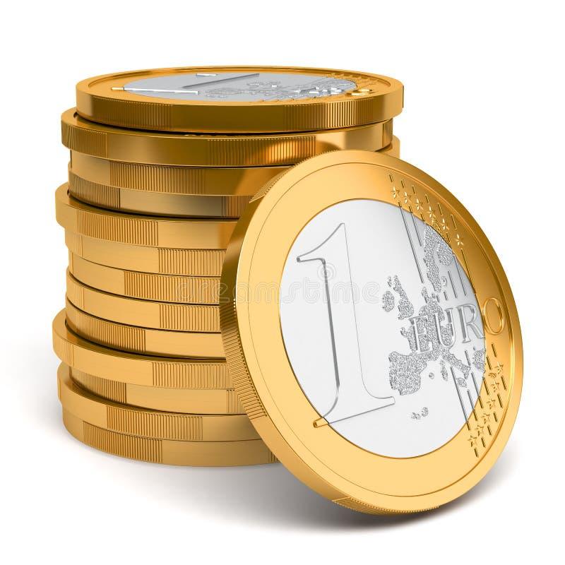 Sterta Euro monety royalty ilustracja
