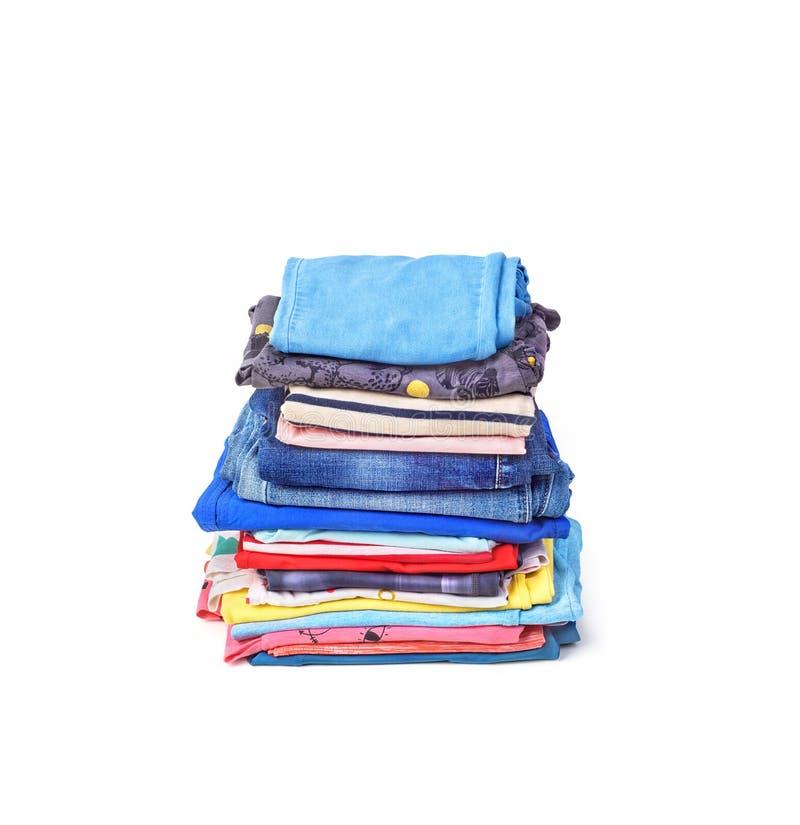 Sterta fałdowi ubrania odizolowywający zdjęcie royalty free