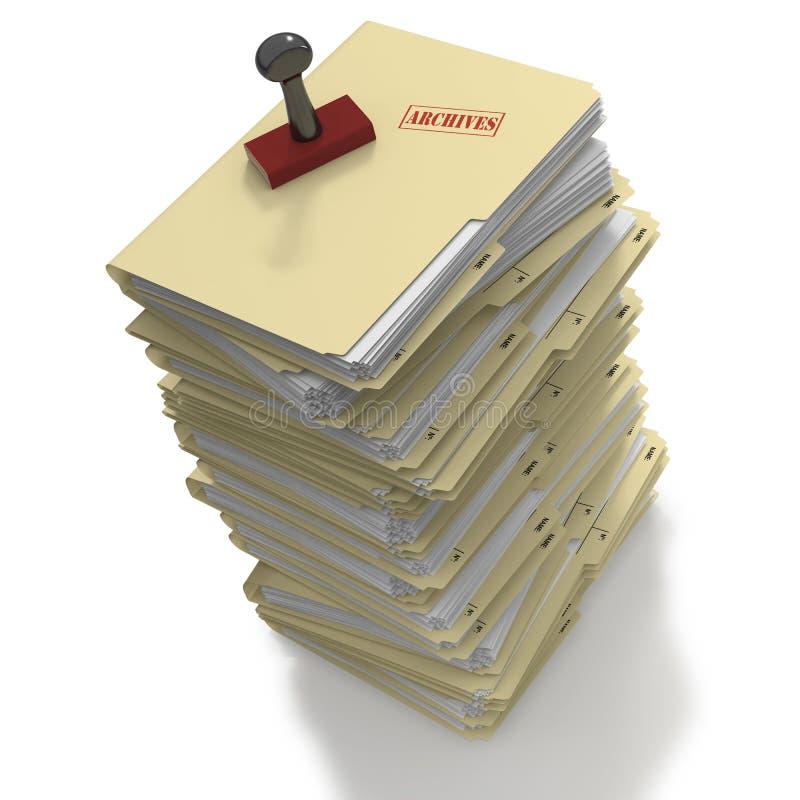 Sterta falcówki przygotowywać dla archiwizować royalty ilustracja