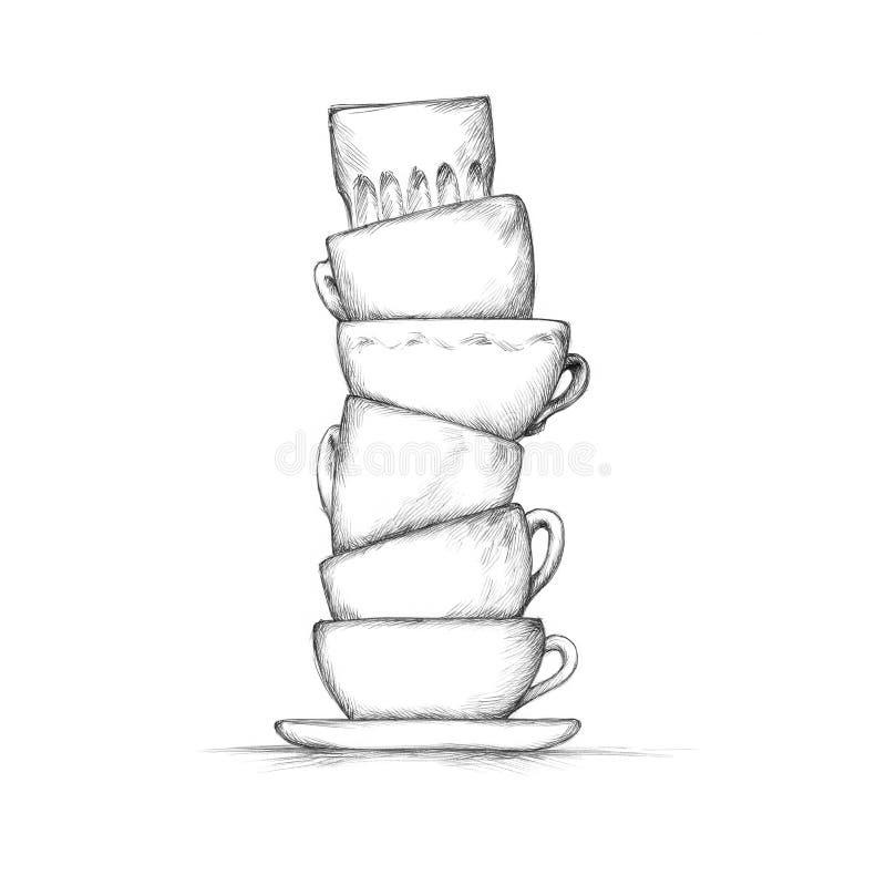 Sterta filiżanki ilustracja wektor