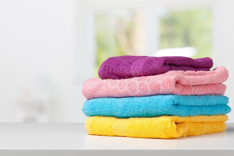 sterta kąpielowi ręczniki zdjęcia royalty free