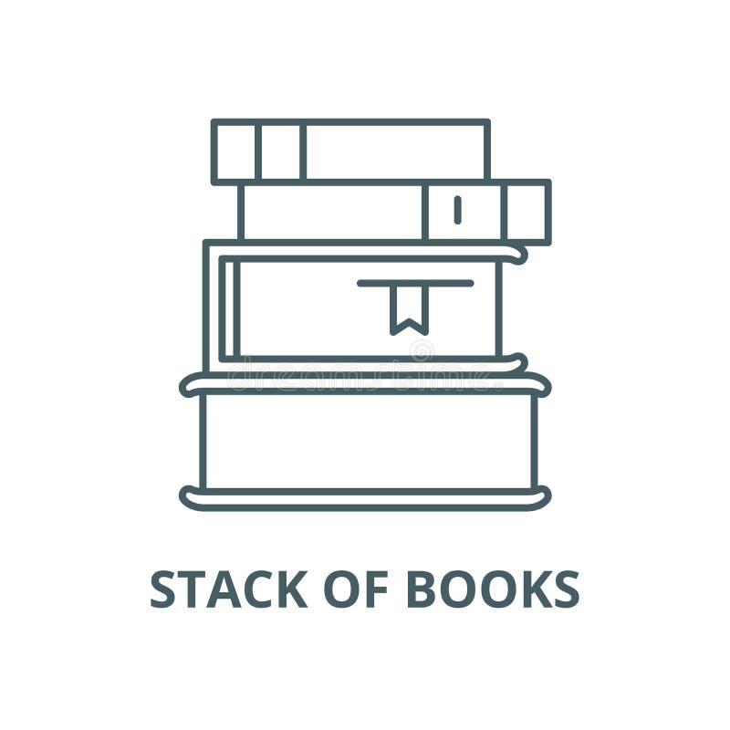 Sterta książka wektoru linii ikona, liniowy pojęcie, konturu znak, symbol ilustracja wektor