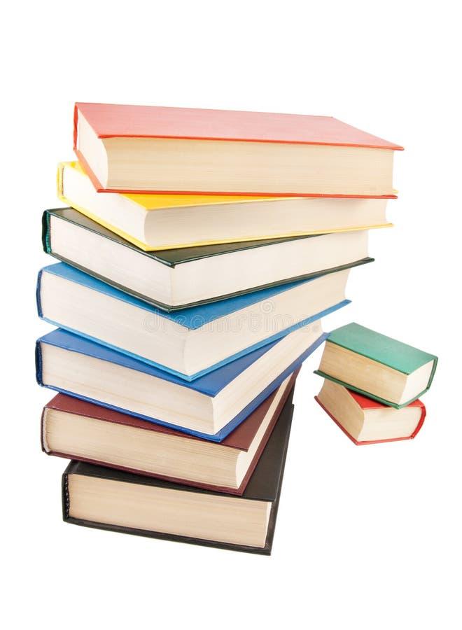 Sterta książki odizolowywać na biel zdjęcie royalty free
