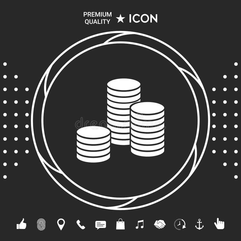 Sterta monety ikona Graficzni elementy dla twój designt ilustracji