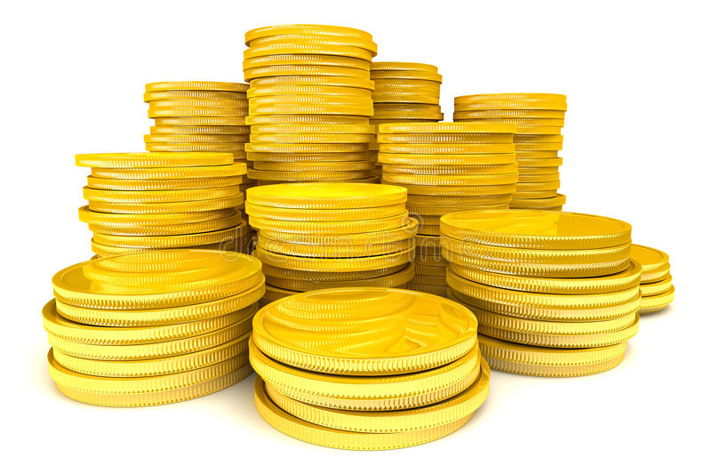 sterta monety złota ilustracja wektor