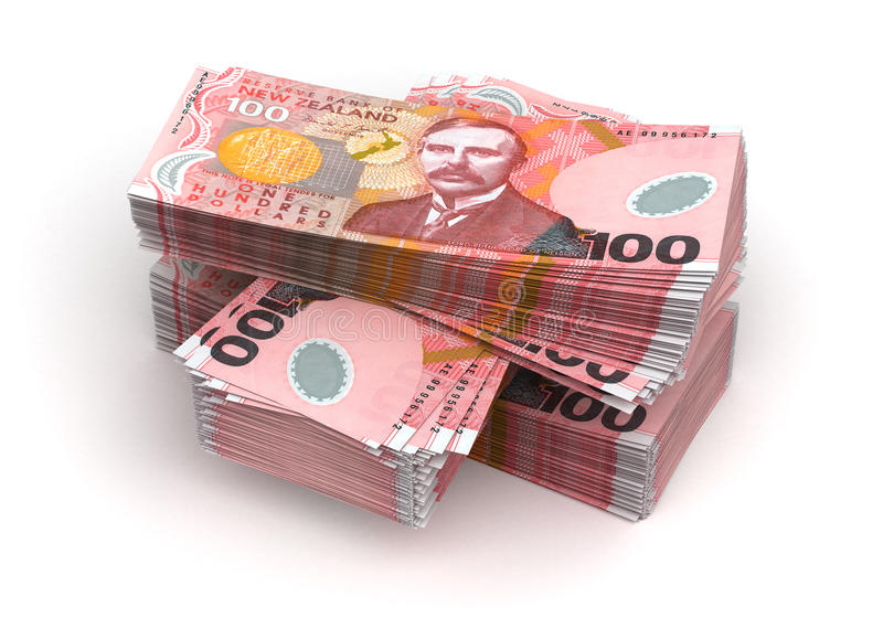 Sterta Nowa Zelandia dolar ilustracja wektor