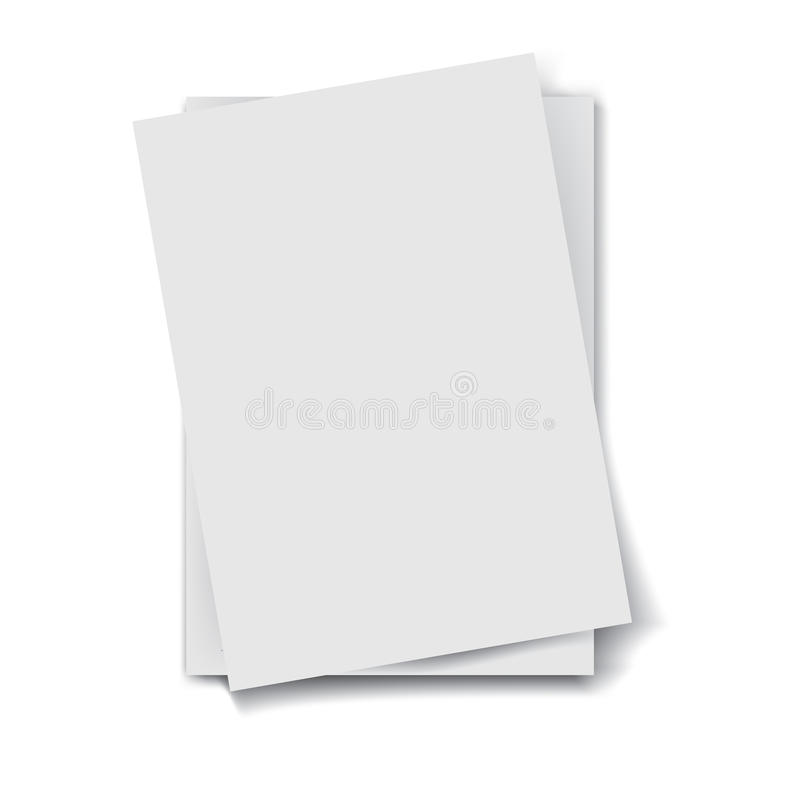 Sterta papiery ilustracja wektor