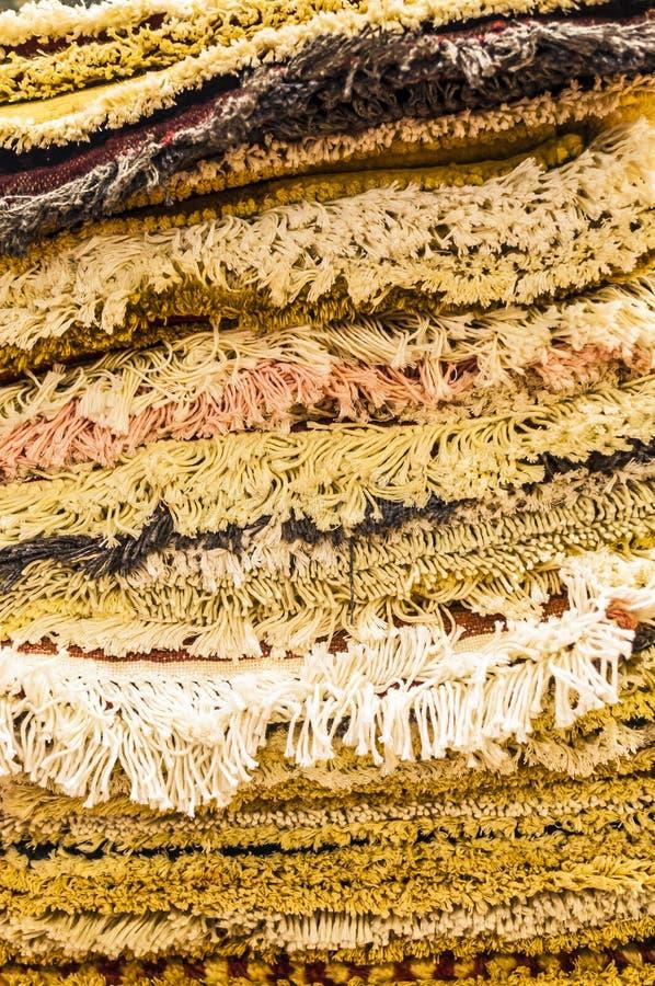 Sterta prestiżowi, handmade dywany na bublu w markierze, fotografia royalty free