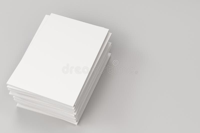 Sterta pusty biały zamknięty broszurka egzamin próbny na białym tle ilustracji