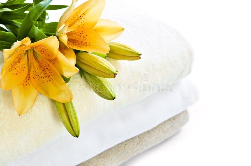 sterta ręczników fotografia stock