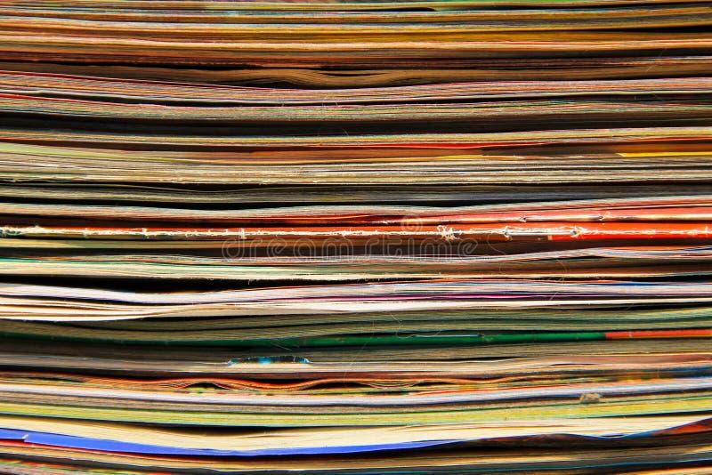 Sterta starzy czasopisma obrazy royalty free