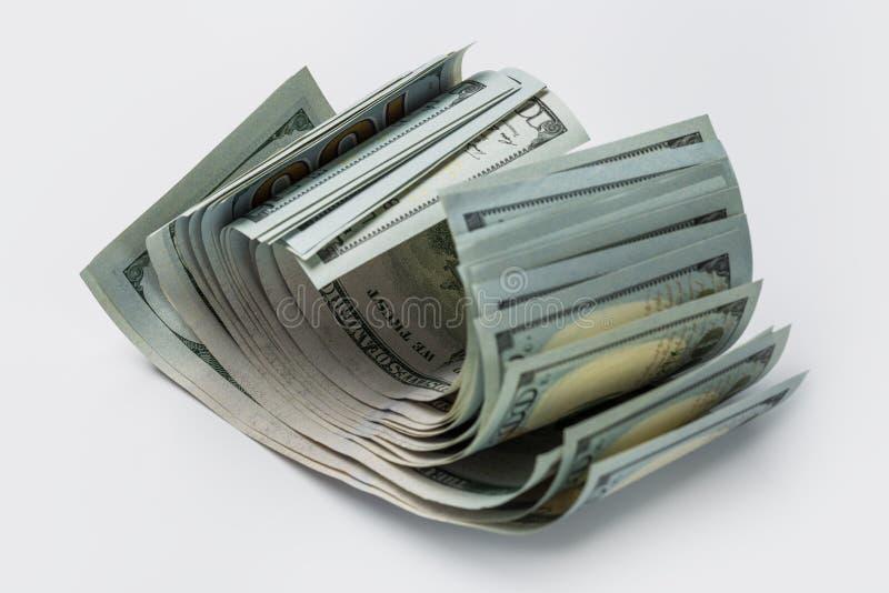 Sterta sto dolar?w odizolowywaj?cych na bielu zdjęcia royalty free
